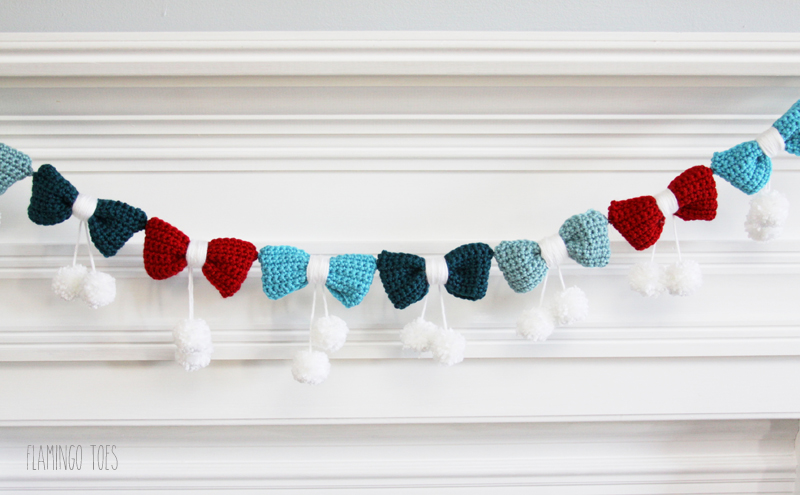 Crochet Bows Garland