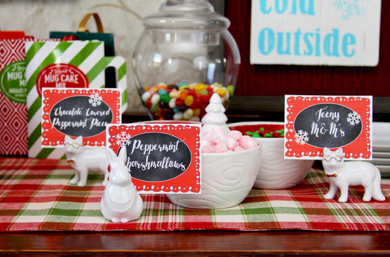 Cute Cocoa Topping Labels