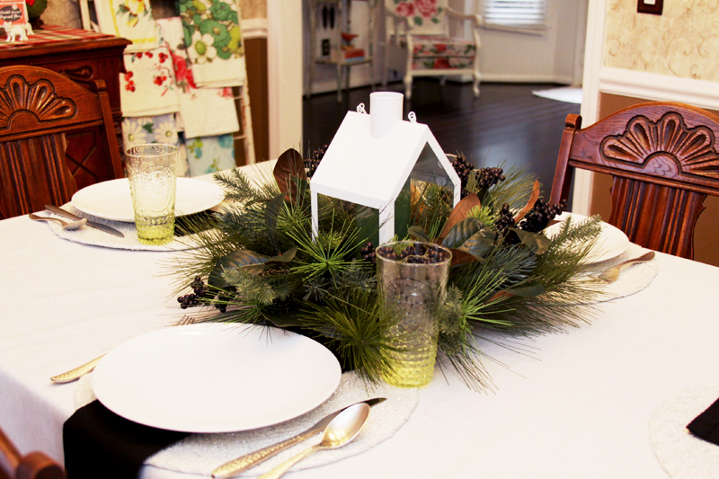 Everyday Winter Dining Table Setting