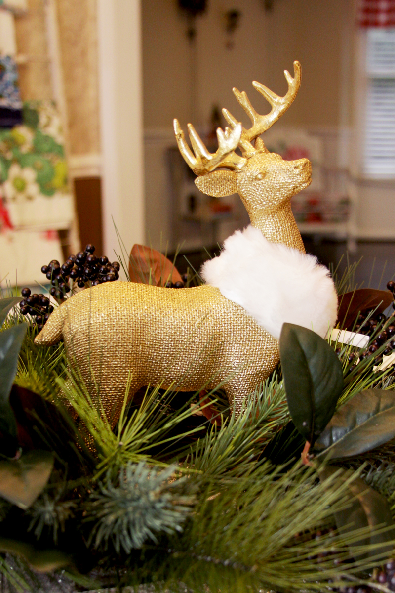 Gold Deer Centerpiece