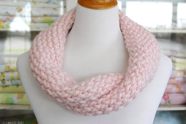 Knit Infinity Scarf DIY
