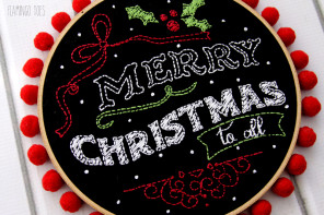 Merry Christmas Chalk Hoop Art