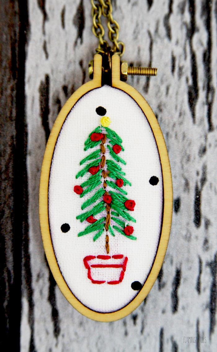 Mini Christmas Tree Necklace