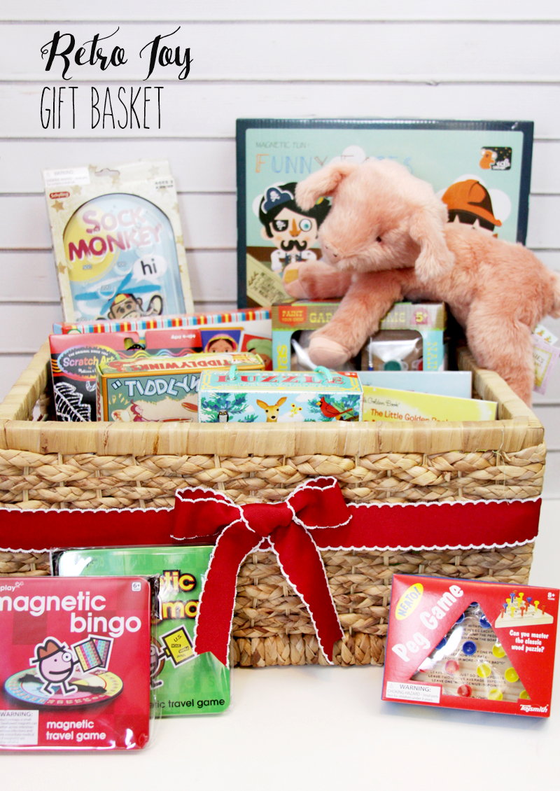 Retro Toy Gift Basket