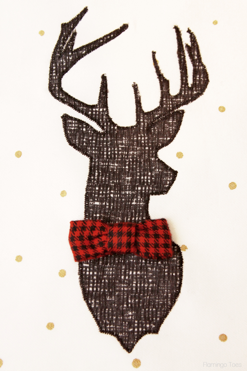 Sew Bow Tie to Deer
