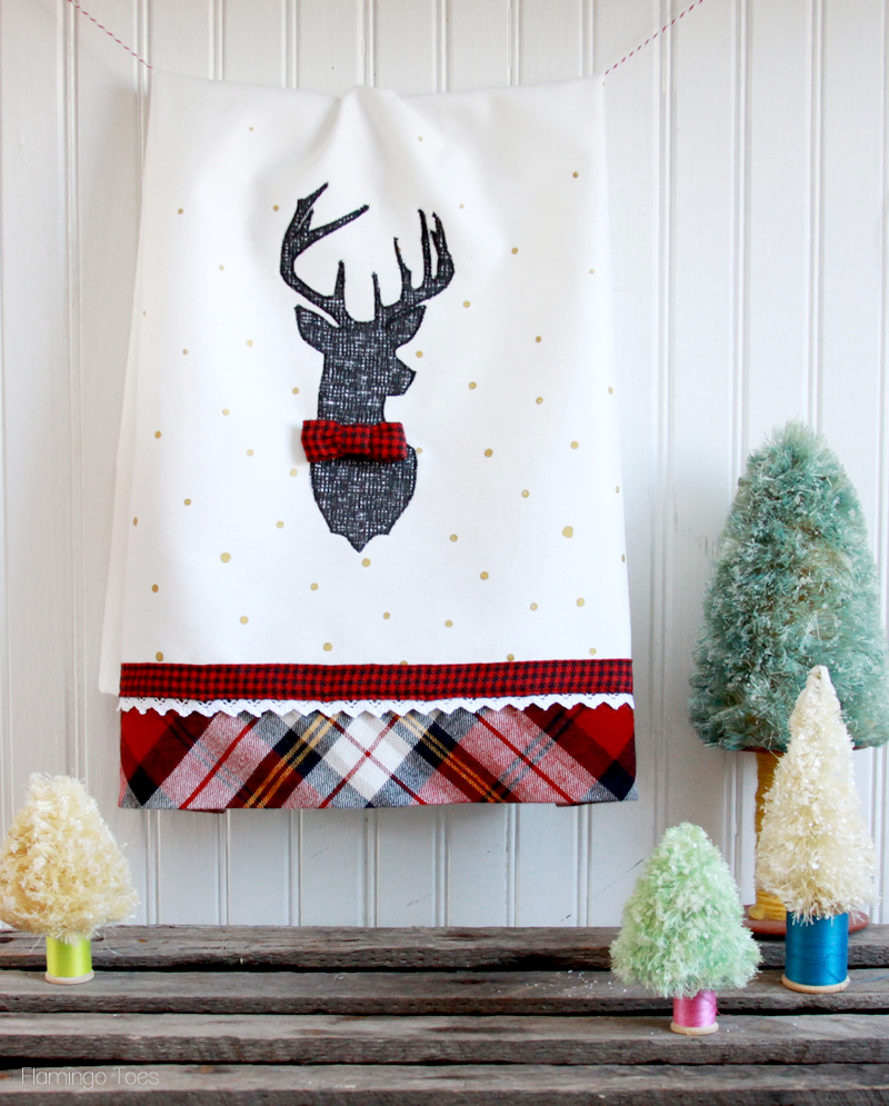 Stylish Christmas Deer Tea Towel