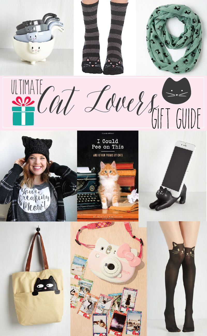 Ultimate Cat Lovers Gift Guide - these are all so fun!