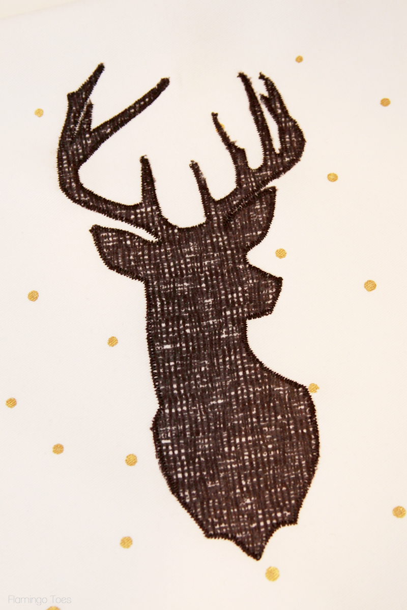 sew deer to dishtowel