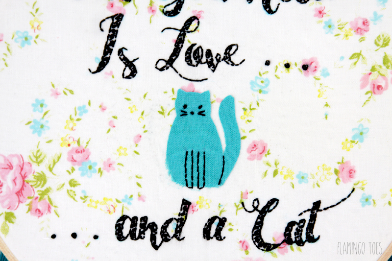 Cat Lovers Embroidery Pattern