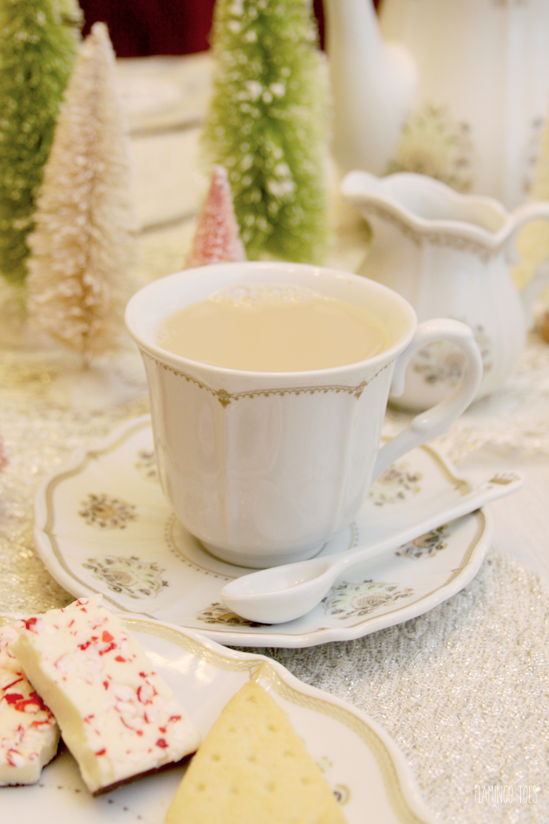 Christmas Tea Party Setting