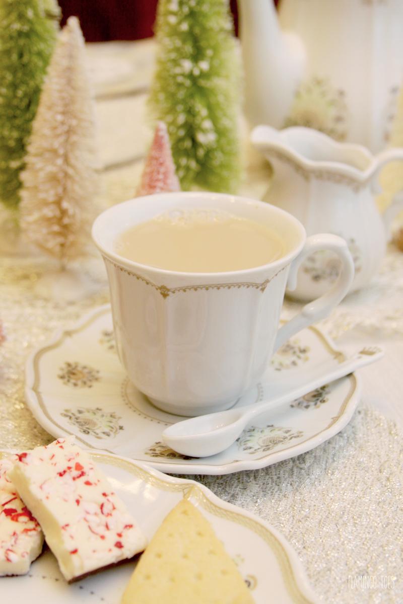 Christmas Tea Party Setting