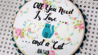 All You Need Is Love - Cat Embroidery