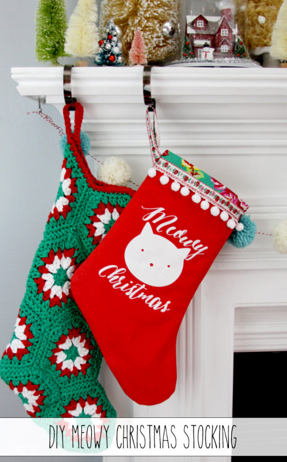 DIY Meowy Christmas Stocking