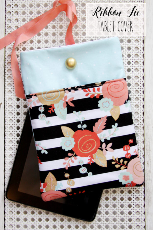 DIY Ribbon Tie Tablet Cover