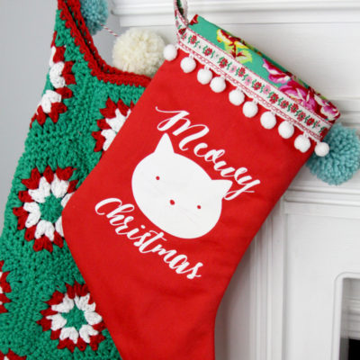 Meowy Christmas Vinyl Stocking