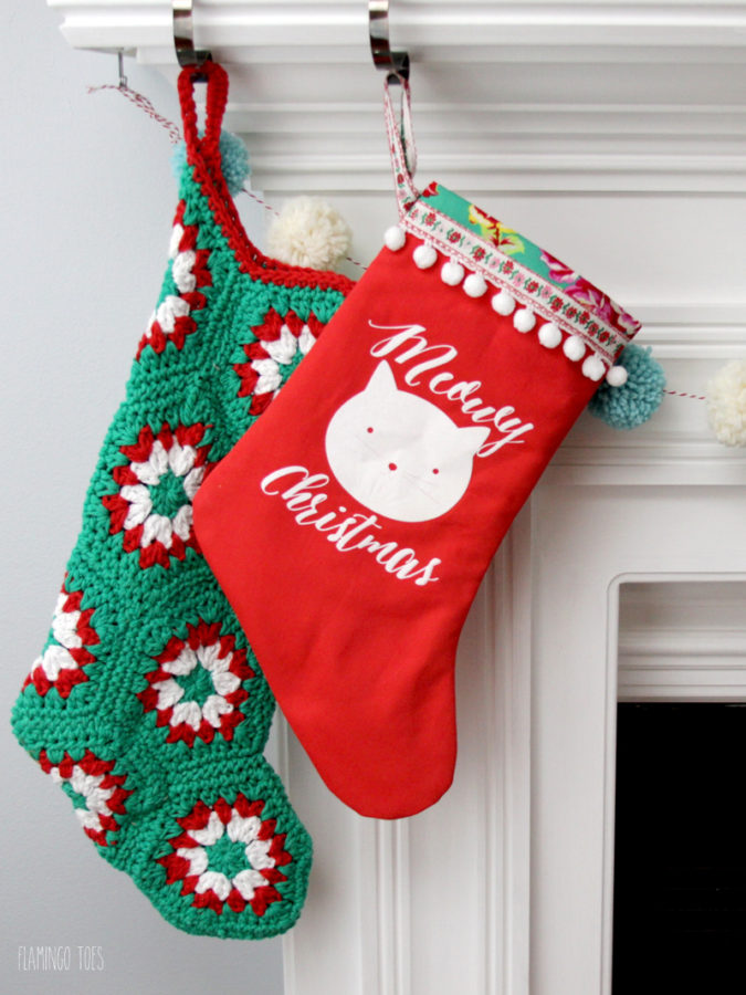 Meowy Christmas Kitten Stocking