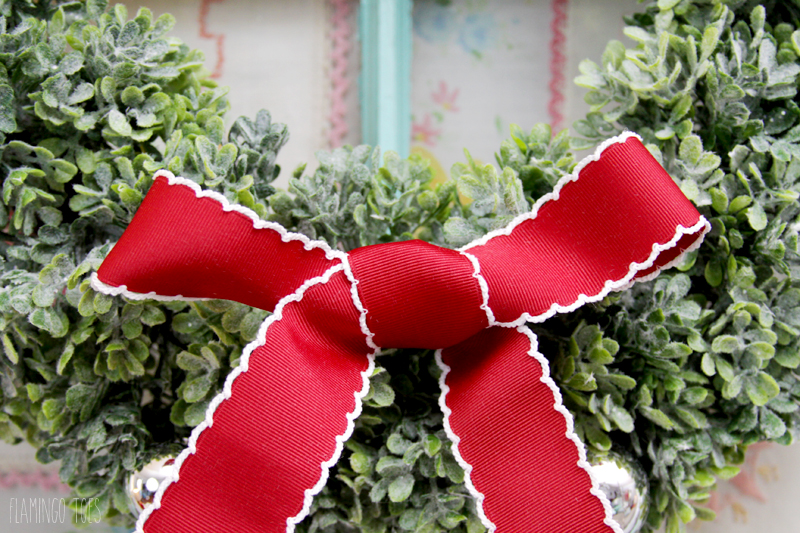 Ribbon decorated Boxwood wreath