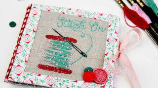 Stitch On - Embroidered Needle Book
