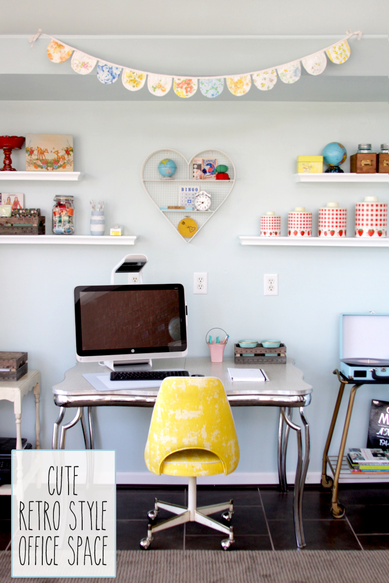 Cute Retro Style Office Space
