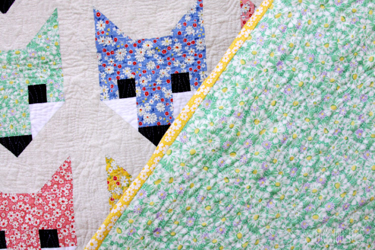 Front and Back of Fox Quilt
