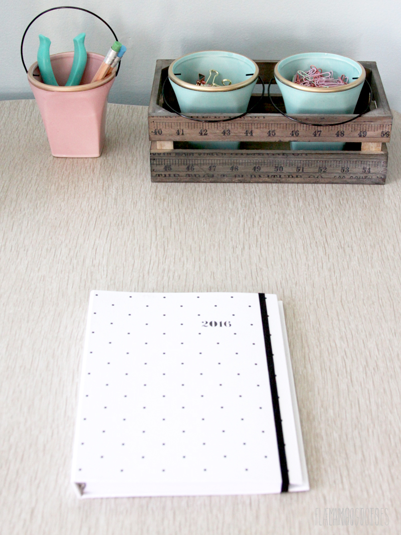 Organized and Cute Office Desk