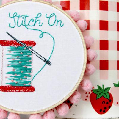 Stitch On – Free Embroidery Pattern