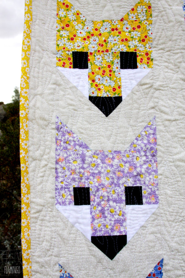 Vintage Style Fabric Fox Quilt