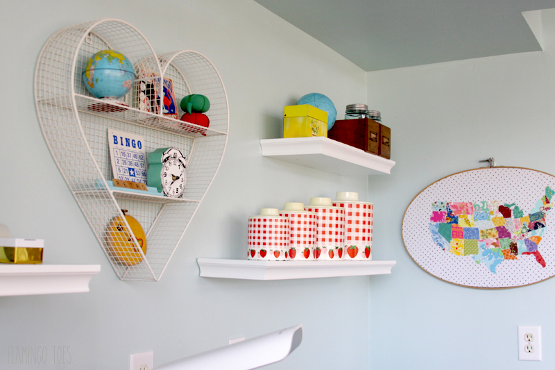 Vintage Style Office Shelves