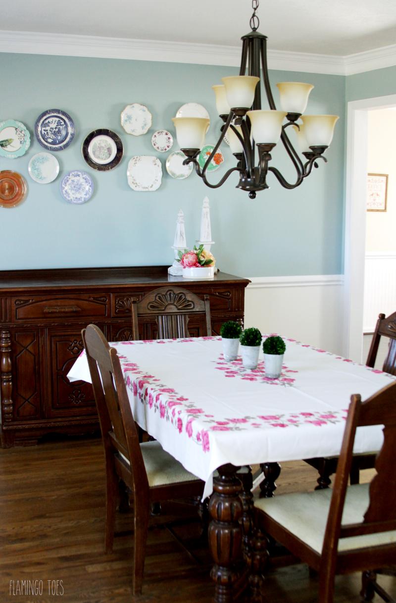 Bright Dining Room Makeover