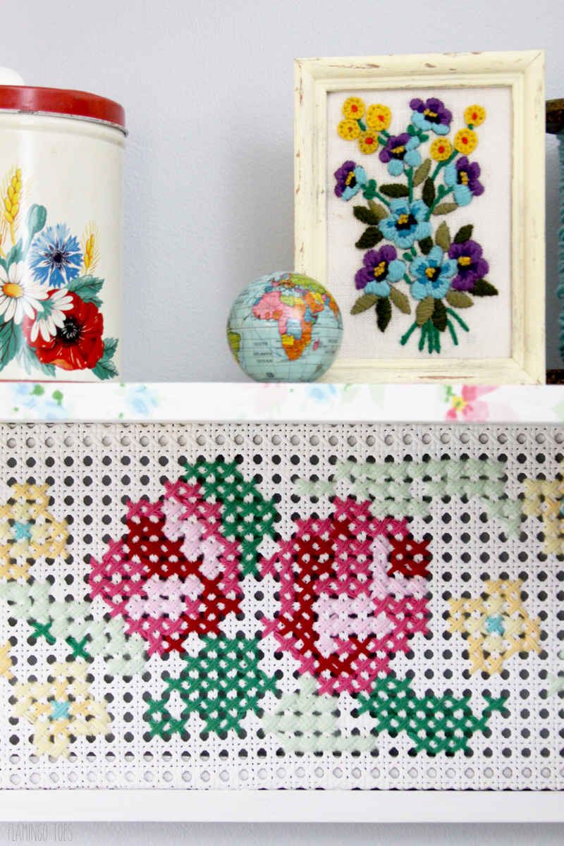 Cross Stitch Shelf Display