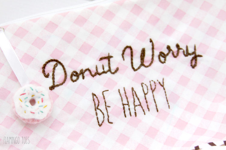 Donut Worry Zipper Pouch