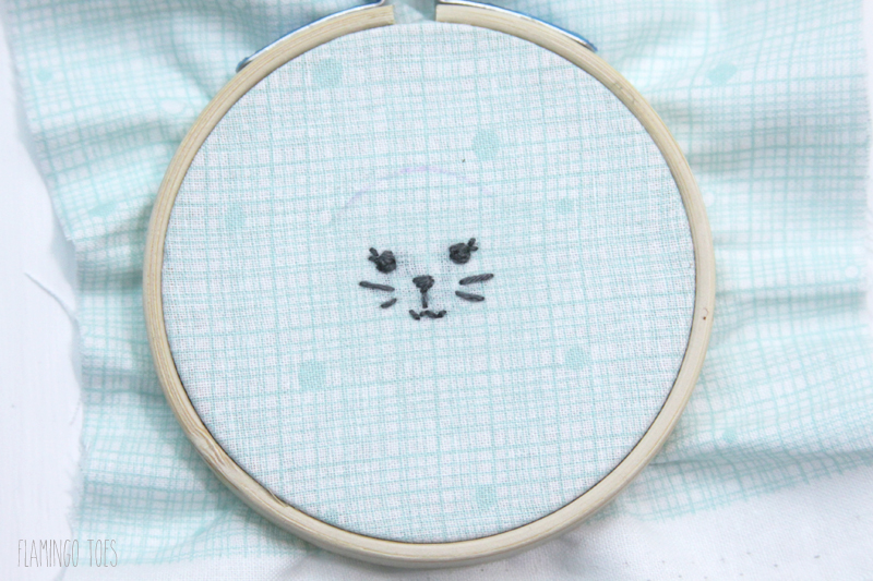 Embroidered Bunny Face