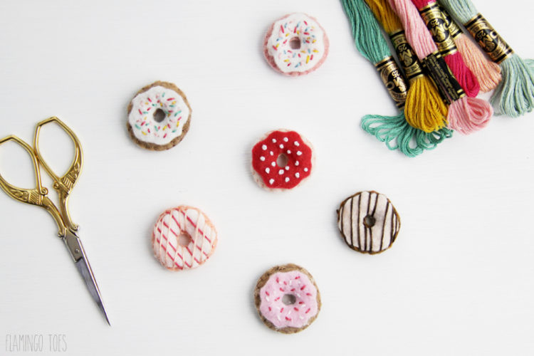 Felt and Embroidery Donuts