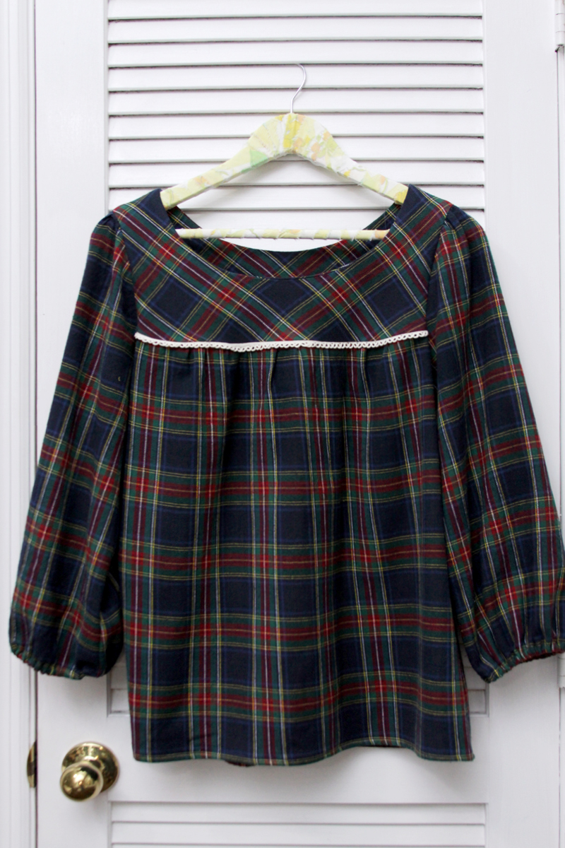 Flannel Ruby Top