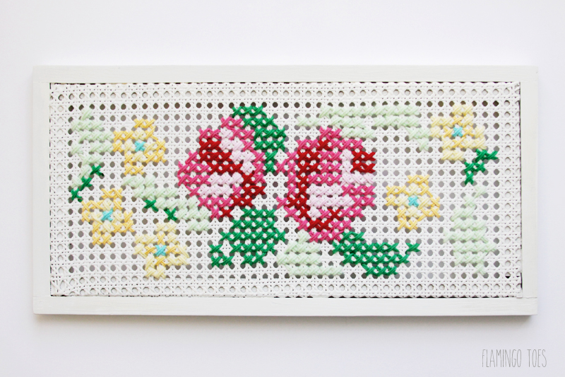 Oversized Cross Stitch on Shutter