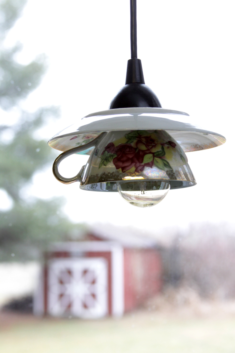 Tea Cup Pendant Light