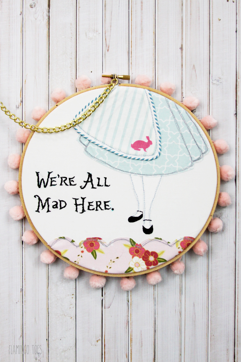 Alice in Wonderland Hoop