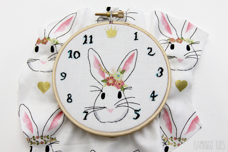 Clock Numbers on Rabbit Hoop