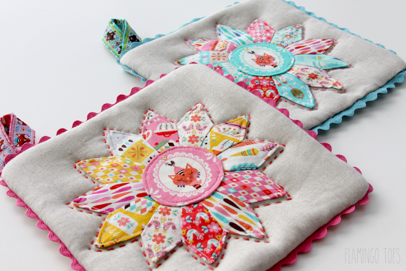 Colorful Retro Potholders