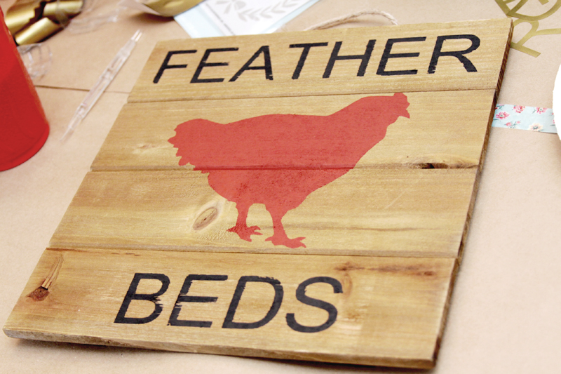 Feather Beds Pallet Sign