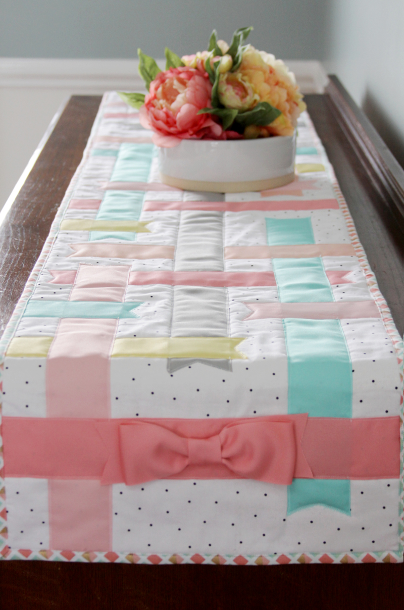Pretty Spring Ribbon Table Runner
