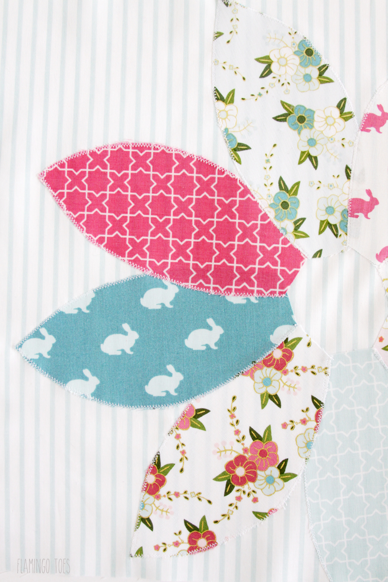 Spring Bunny Pillow Applique