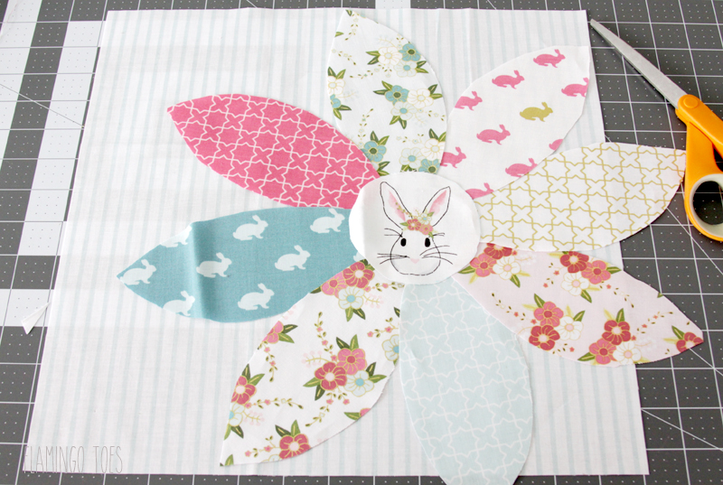 Spring Bunny Pillow Pieces