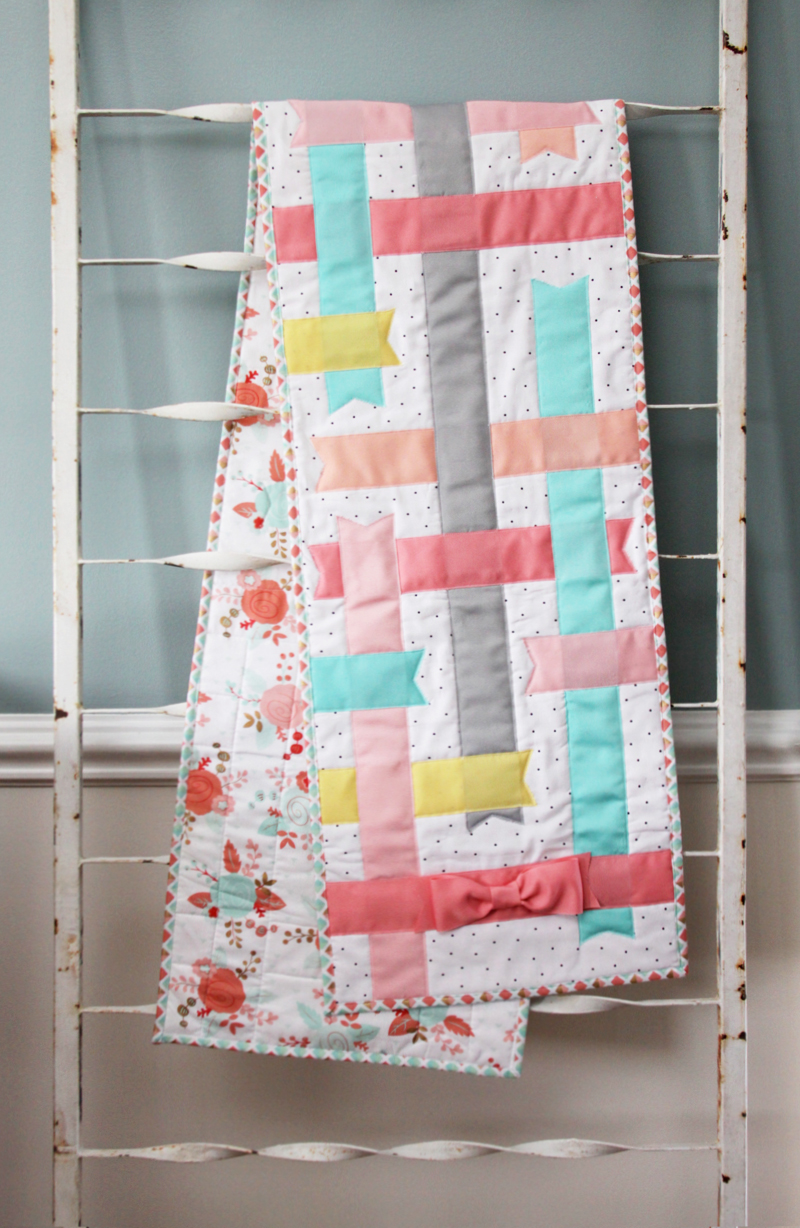 Spring Pastel Ribbon Table Runner
