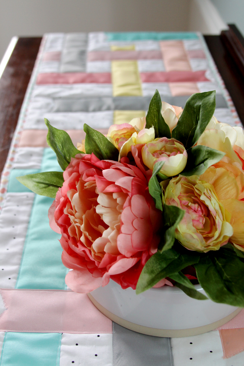 Spring Ribbon Table Runner
