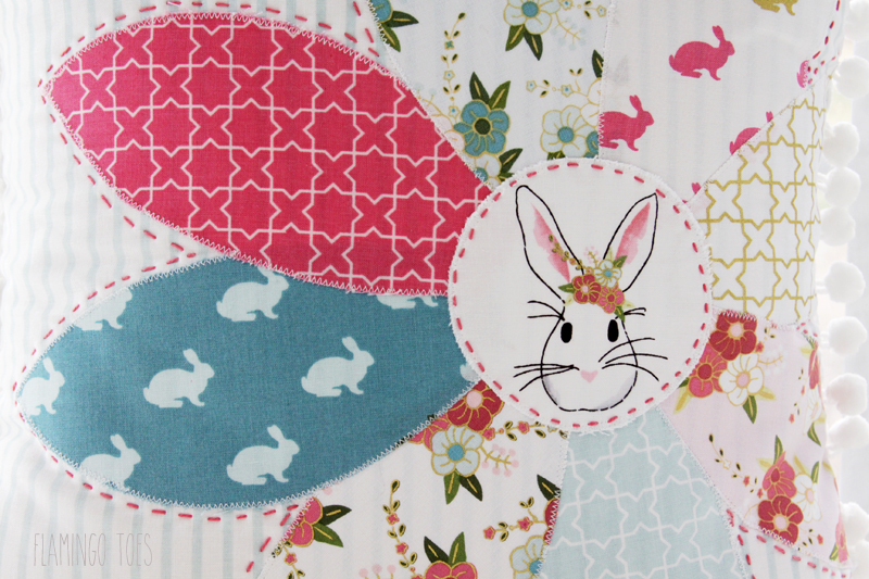 Sweet Spring Bunny Pillow