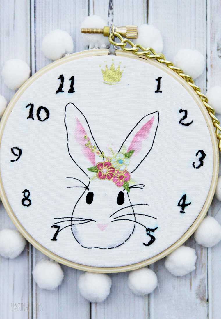 White Rabbit Clock Hoop