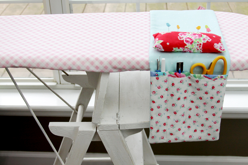 Fabric Ironing Board Organizer