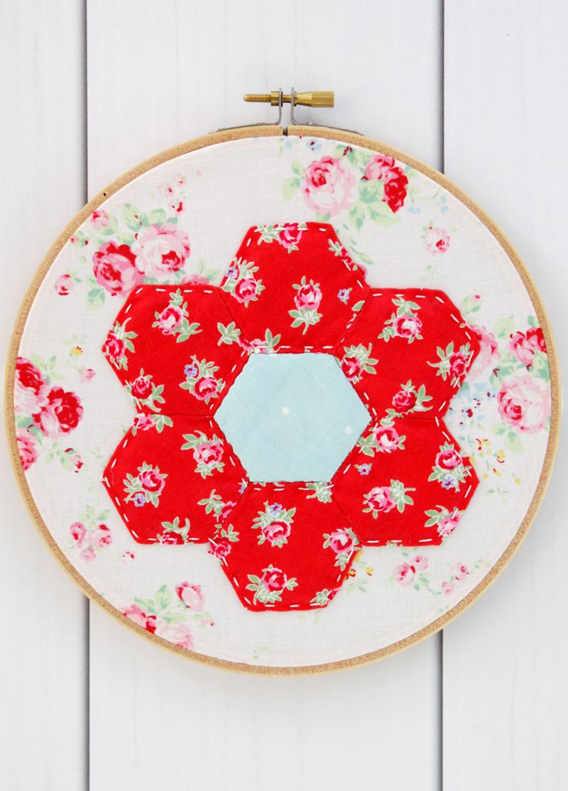 Hexagon Hoop Art