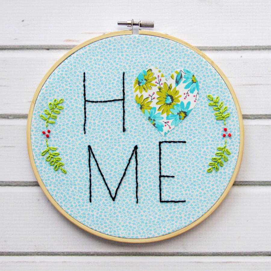 Home and Heart Embroidery Hoop